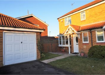 Thumbnail 3 bed semi-detached house for sale in Redwood Court, Ashington