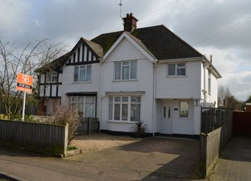 Thumbnail 3 bedroom semi-detached house for sale in Grange Road, Felixstowe