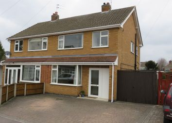 Thumbnail 3 bed semi-detached house for sale in Lichfield Drive, Blaby, Leicester