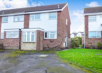 Thumbnail 3 bed semi-detached house for sale in Snelston Close, Dronfield Woodhouse, Derbyshire