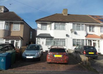 Thumbnail 3 bed semi-detached house to rent in Eastleigh Avenue, South Harrow, Harrow