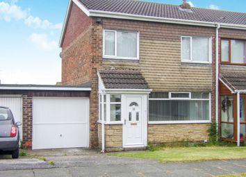 Thumbnail 3 bed semi-detached house to rent in Doddington Drive, Cramlington