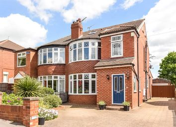 Thumbnail 4 bed semi-detached house for sale in Kingswood Crescent, Roundhay, Leeds