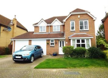 Thumbnail 4 bed detached house for sale in Riverside Gardens, Peterborough, Thorpe Meadows