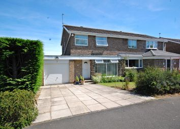 Thumbnail 3 bed semi-detached house for sale in Cotherstone Road, Newton Hall, Durham