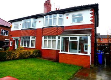 Thumbnail 4 bed semi-detached house to rent in Carrington Road, Fallowfield, Manchester