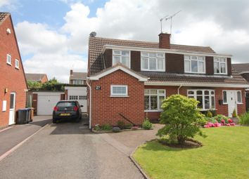 Thumbnail 3 bedroom semi-detached house for sale in Boston Way, Barwell, Leicester