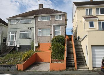 Thumbnail 3 bedroom semi-detached house for sale in Bridwell Road, Plymouth