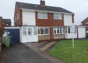 Thumbnail 3 bedroom semi-detached house to rent in Farmdown Road, Baswich, Stafford, Staffordshire