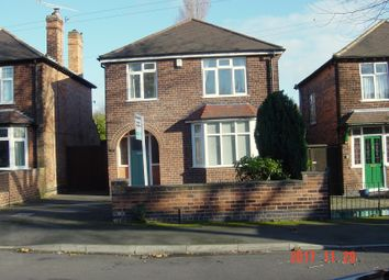 Thumbnail 4 bed detached house to rent in Central Avenue, Beeston, Nottingham