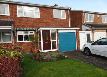 Thumbnail 3 bed semi-detached house for sale in Danelagh Close, Tamworth