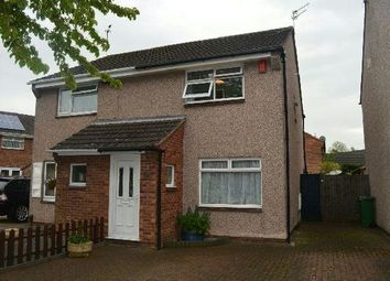 Thumbnail 2 bed semi-detached house to rent in Featherby Drive, Glen Parva, Leicester.