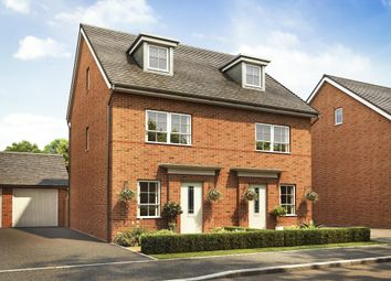 "Thumbnail 4 bed end terrace house for sale in ""Queensville"" at Wood End, Marston Moretaine, Bedford"