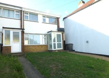 Thumbnail 3 bed semi-detached house to rent in Holborough Road, Snodland
