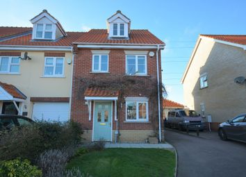 Thumbnail 3 bed end terrace house for sale in Broad Fleet Close, Oulton, Lowestoft