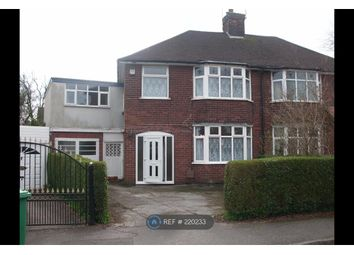 Thumbnail 4 bedroom semi-detached house to rent in Wollaton Knole Road, Nottingham
