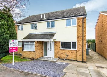 Thumbnail 3 bedroom semi-detached house for sale in Stephenson Avenue, Gonerby Hill Foot, Grantham