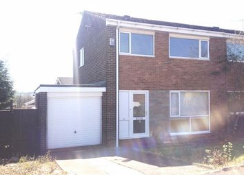 Thumbnail 3 bed semi-detached house to rent in Wooley Drive, Ushaw Moor, Durham