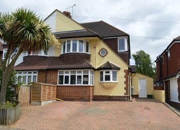 Thumbnail 5 bed semi-detached house for sale in Woodstone Avenue, Stoneleigh, Surrey.