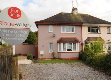 Thumbnail 3 bed semi-detached house for sale in East Pafford Avenue, Torquay
