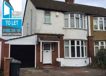 Thumbnail 3 bedroom flat to rent in Sherwood Road, Luton