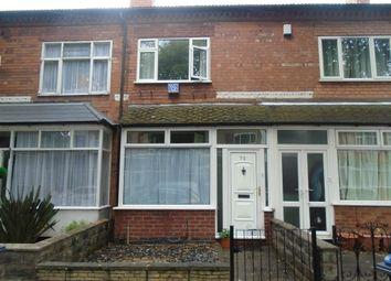 Thumbnail 2 bedroom terraced house to rent in Dean Road, Erdington, Birmingham