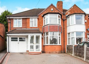 Thumbnail 4 bed semi-detached house for sale in Arnold Grove, Shirley, Solihull