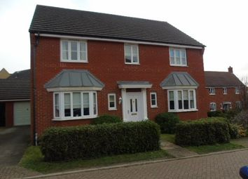 Thumbnail 4 bed detached house to rent in Plover Close, Stowmarket