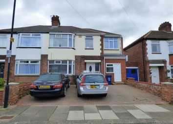 Thumbnail 4 bed semi-detached house for sale in Cloverdale Gardens, High Heaton, Newcastle Upon Tyne