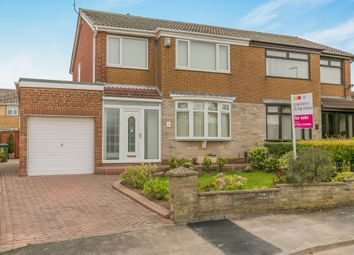 Thumbnail 3 bed semi-detached house for sale in Barkston Close, Billingham