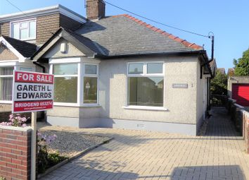 Thumbnail 2 bed semi-detached bungalow for sale in Litchard Bungalows, Bridgend