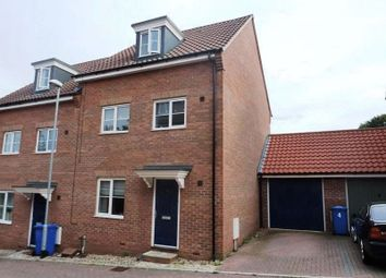 Thumbnail 4 bed semi-detached house for sale in Attoe Walk, Norwich