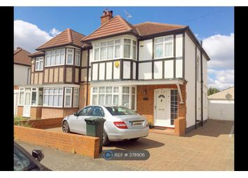 Thumbnail 3 bed semi-detached house to rent in Deane Croft Road, Pinner