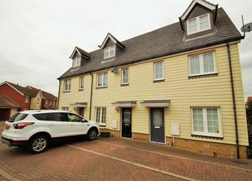 Thumbnail 3 bed town house for sale in Radvald Chase, Stanway, Colchester