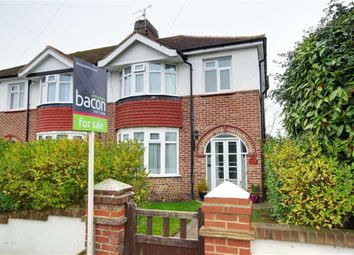 Thumbnail 3 bed semi-detached house for sale in Bramley Road, Broadwater, Worthing, West Sussex