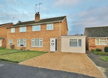 Thumbnail 3 bed semi-detached house for sale in Brookside, Houghton, Cambs