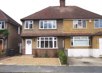 Thumbnail 3 bed semi-detached house to rent in Tennyson Road, Addlestone
