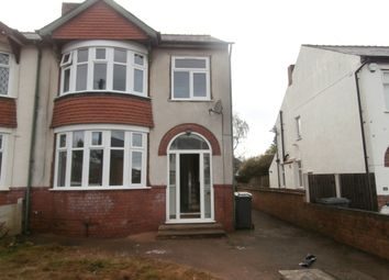 Thumbnail 3 bedroom semi-detached house to rent in Wynn Road, Penn, Wolverhampton