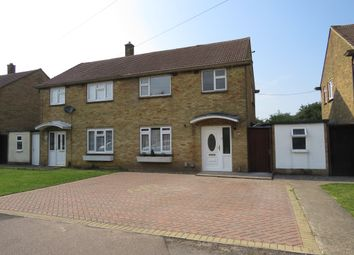 Thumbnail 3 bed semi-detached house for sale in Burford Way, Hitchin