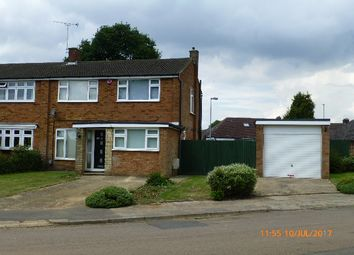 Thumbnail 3 bed semi-detached house to rent in Stopsley Way, Luton