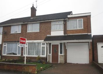 Thumbnail 4 bed semi-detached house for sale in Heath Acres, Darlaston, Wednesbury