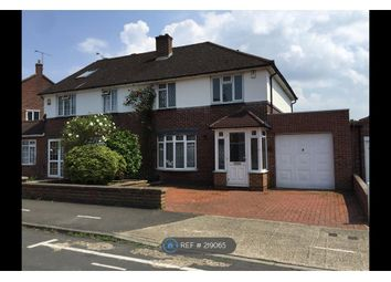 Thumbnail 4 bed semi-detached house to rent in Lodge Close, Uxbridge