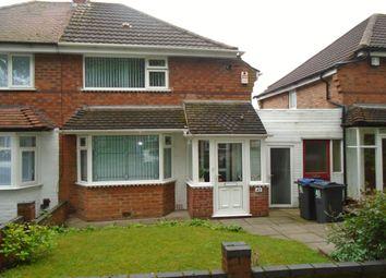 Thumbnail 3 bed semi-detached house for sale in Bilton Grange Road, Birmingham
