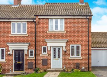 Thumbnail 2 bedroom end terrace house for sale in Lord Nelson Drive, New Costessey, Norwich