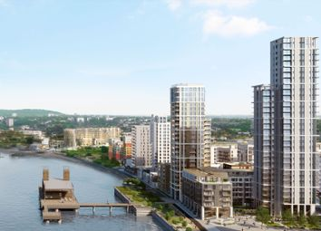 Thumbnail 3 bedroom flat for sale in The Waterman, 5 Tidemill Square, Peninsula Square, London
