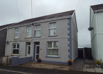 Thumbnail 3 bed semi-detached house for sale in Gorsddu Terrace, Penygroes, Llanelli
