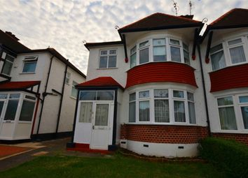 Thumbnail 3 bedroom semi-detached house to rent in Ambleside Gardens, Wembley, Greater London