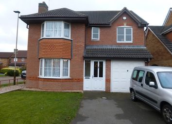 Thumbnail 4 bed detached house to rent in Margam Close, Heathley Park, Leicester.