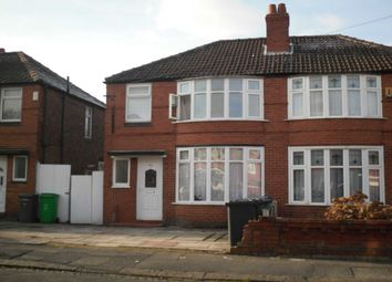 Thumbnail 5 bedroom semi-detached house to rent in Ashdene Road, Withington, Manchester