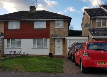 Thumbnail 3 bed semi-detached house for sale in Quentin Road, Woodley, Reading